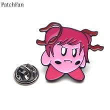 Patchfan Doki Literature Club minika Zinc tie Pins backpack clothes brooches men women hat decoration badges medals A1836