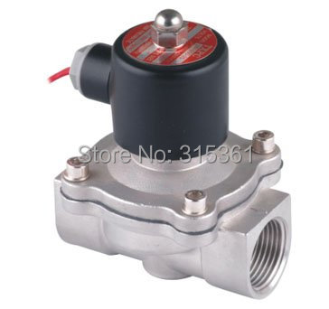 цена на Free Ship 5PCS A Lot AC110V 1'' 2S250-25 Stainless Steel Solenoid Valve Normally Closed 2Way VITON Oil Acid