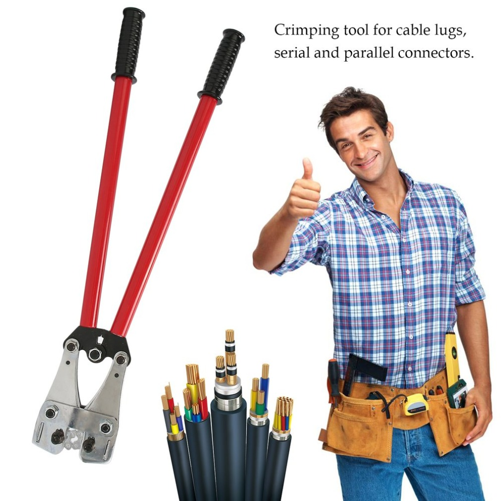 цена на Wire Terminal Crimping Tool 25-150mm square Crimping Pliers Anti-Slip Electrician Ratchet Plier Universal Cable Crimper