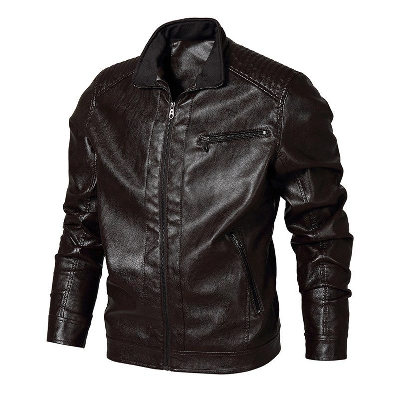 TACVASEN Winter Men Tactical PU Leather Jacket Autumn Military Bomber Jacket Army Pilot Jacket Casual Motorcycle Coat US Size