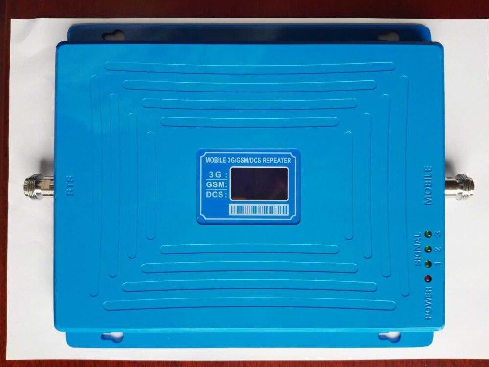 Troisième bande 65dbi triband GSM 900 1800 MHZ 2100 MHZ booster répéteur 4g DCS répéteur 3G booster gsm répéteur GSM 4G bande 3