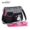 La bolsa de Mamá moda de Gran Capacidad multifuncional bolsa de Maternidad de Enfermería Transpirable Sola Mochila Pañal Del Bebé Bag65z