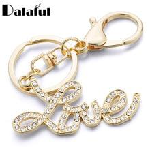 Dalaful брелки с буквами Love, брелки, кошелек, сумка, подвеска, автомобильный брелок, кольцо, держатель, сувенир, подарок для влюбленных K348