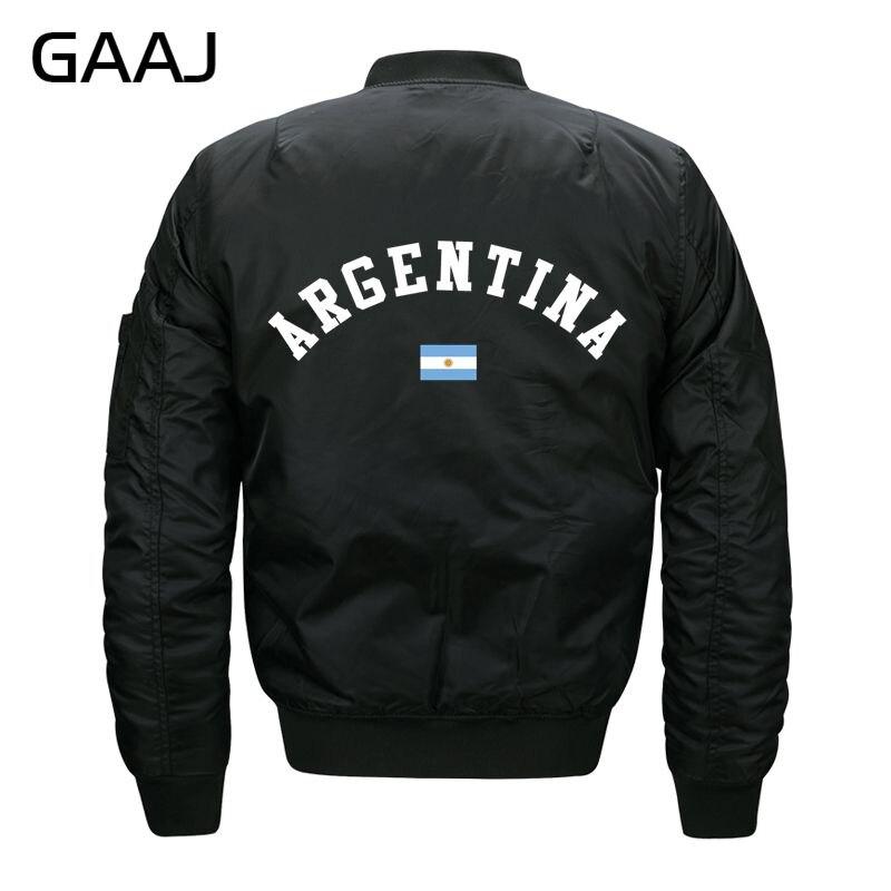 Gaaj Print Argentina Flag Jackets Men Brand Clothing Baseball Jacket Militar Parka Clothes Pilot Waterproof Winter Casual For Ma Fragrant In Flavor