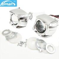 RONAN Bi Xenon H1 2.0 Mini Projector Headlights Lens LHD For Cars Motorcycle H4 H7 Retrofits Fog Lights DIY Bulb Car Style