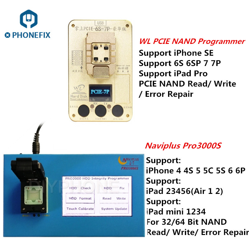 PHONEFIX Naviplus Pro3000S WL PCIE NAND Programmer for iPhone 4S 5 6 6P SE 6S 6SP