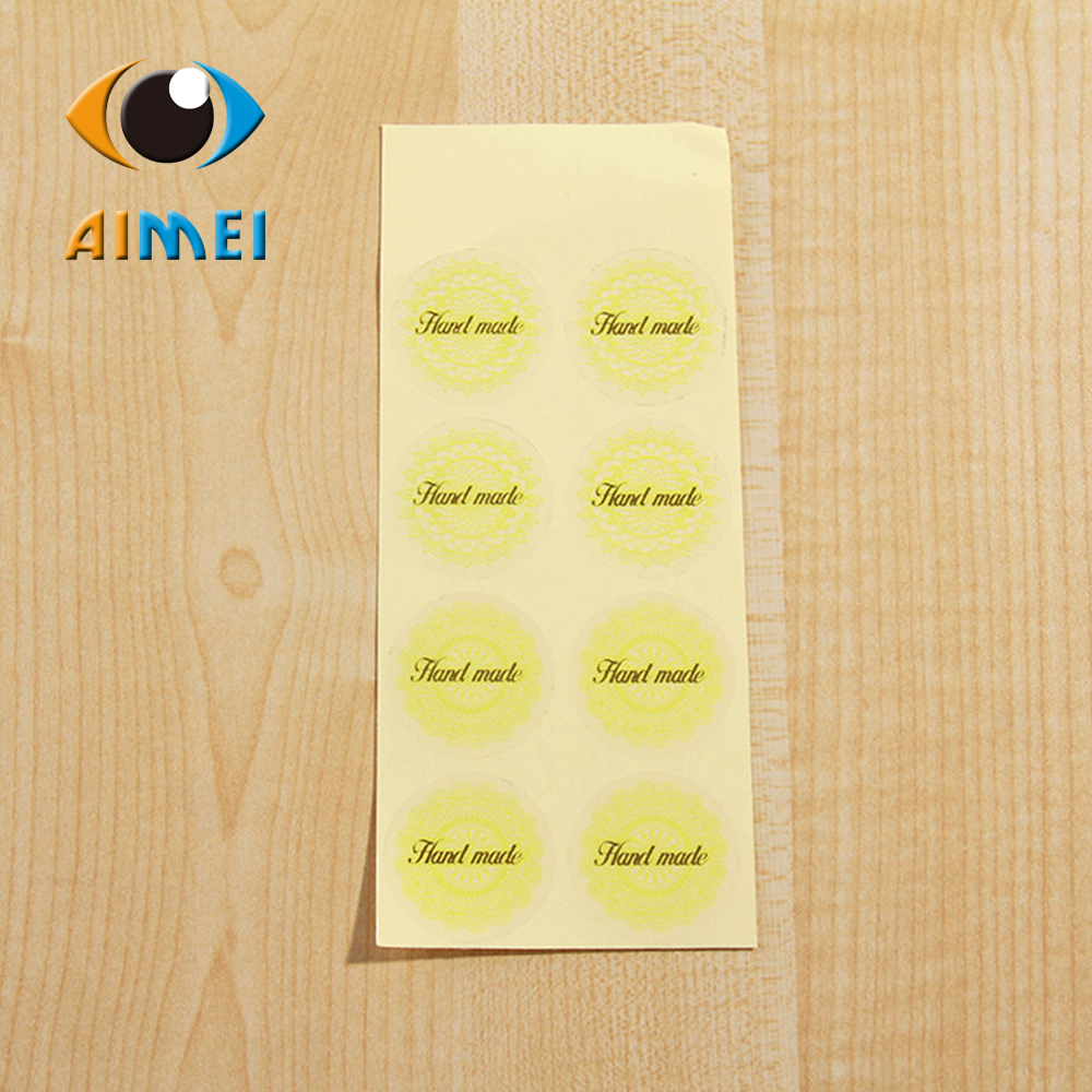 Manufacturers selling green lace transparent D95 post PVC hot stamping Handmade sealing adhesive stickers