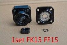 SFU2005 ballscrew soporte FK15 y FF15 de tornillo de bola 20mm SFU2010 ballscrew end soporte cnc parte FK15 FF15 1 Unidades