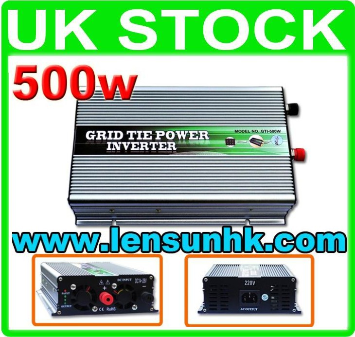 500W Grid Tie Solar Inverter 14-28V DC for 12v solar panel,factory directly,wholesale,fast ship