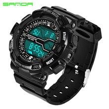 Известная марка класса люкс Для мужчин S спортивные часы в стиле милитари цифровой светодиодный электронный армии Водонепроницаемый Открытый Отдых Для мужчин Наручные часы
