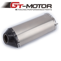 Universal New Motorcycle Carbon Fiber Exhaust Scooter Modified exhaust Muffler pipe For HONDA CBR600RR