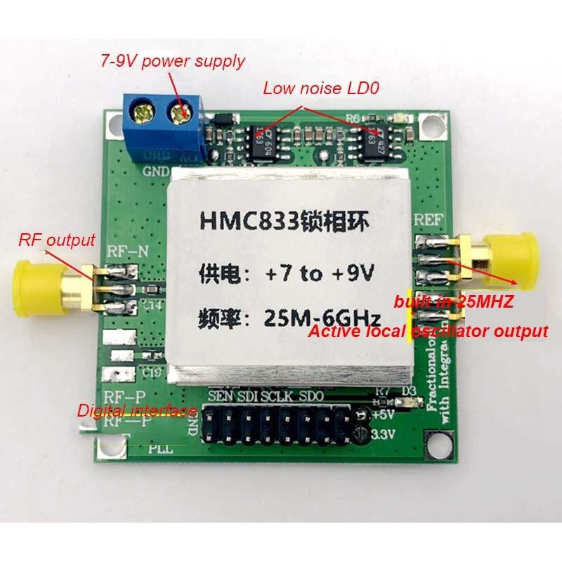 Source de signal RF Lusya HMC833 25 M-6 GHZ source de balayage en boucle verrouillée en Phase STM32 contrôle source ouverte TFT T0101 - 5