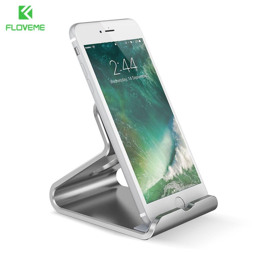 Floveme Universal Phone Stand Holder Aluminum Metal Desk