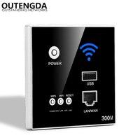 300 Mbps 802.11N in-parede ponto de acesso sem fio para casa inteligente apoio router WI-FI roteador sem fio de Alimentação AC com criptografia WPS