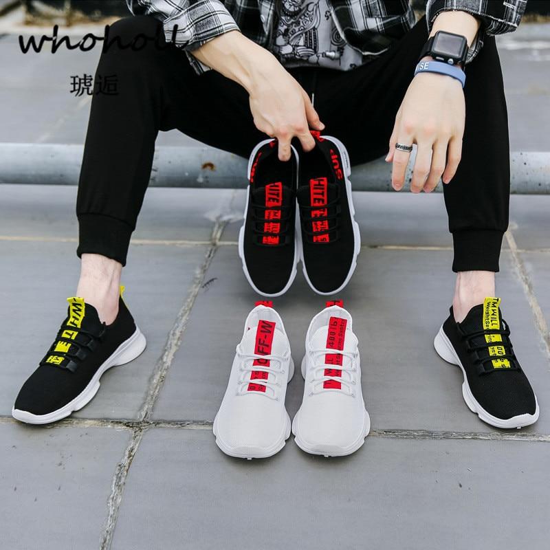 Whoholl Noir Zapatillas Respirant Chaussures Hommes rouge Autum Lacets Hombre blanc Formateurs Mode Sneakers À Casual Appartements rqrOa