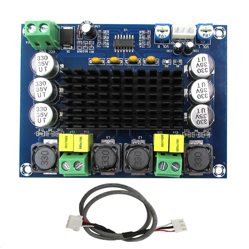 TPA3116D2 High Power Digital Amplifiers Module Dual-Channel Amplificador 2*120W Board Sound Amplifier Audio For Speakers Stereo