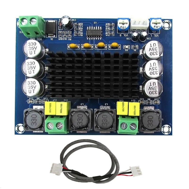 TPA3116D2 de alta potencia amplificadores digitales módulo Dual canal Amplificador 2*120 W de Amplificador de sonido de Audio para altavoces estéreo