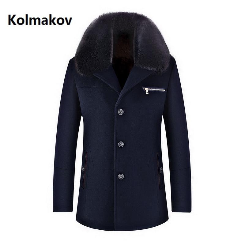 Winter High Quality Woolen Jacket Men's Fashion Business Thicken Trench Coat Men's Casual Coat Classic Men Overcoat 6 Colours