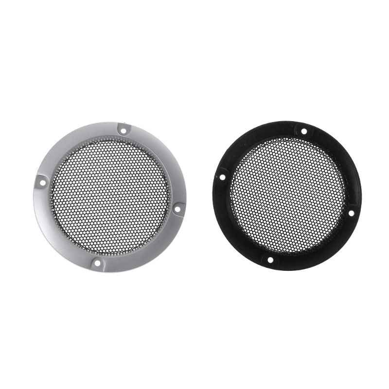 "2PCS Speaker Grills 3"" Protective Subwoofer Frame Grille Cover Steel Mesh Decorative Circle DIY Accessories"