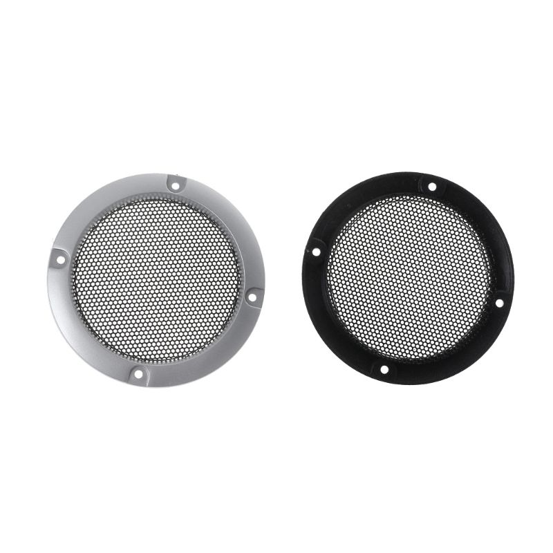 4inch Speaker Cover,Loudspeaker Decorative Circle,Metal Mesh Grille Protection with Screw for DIY