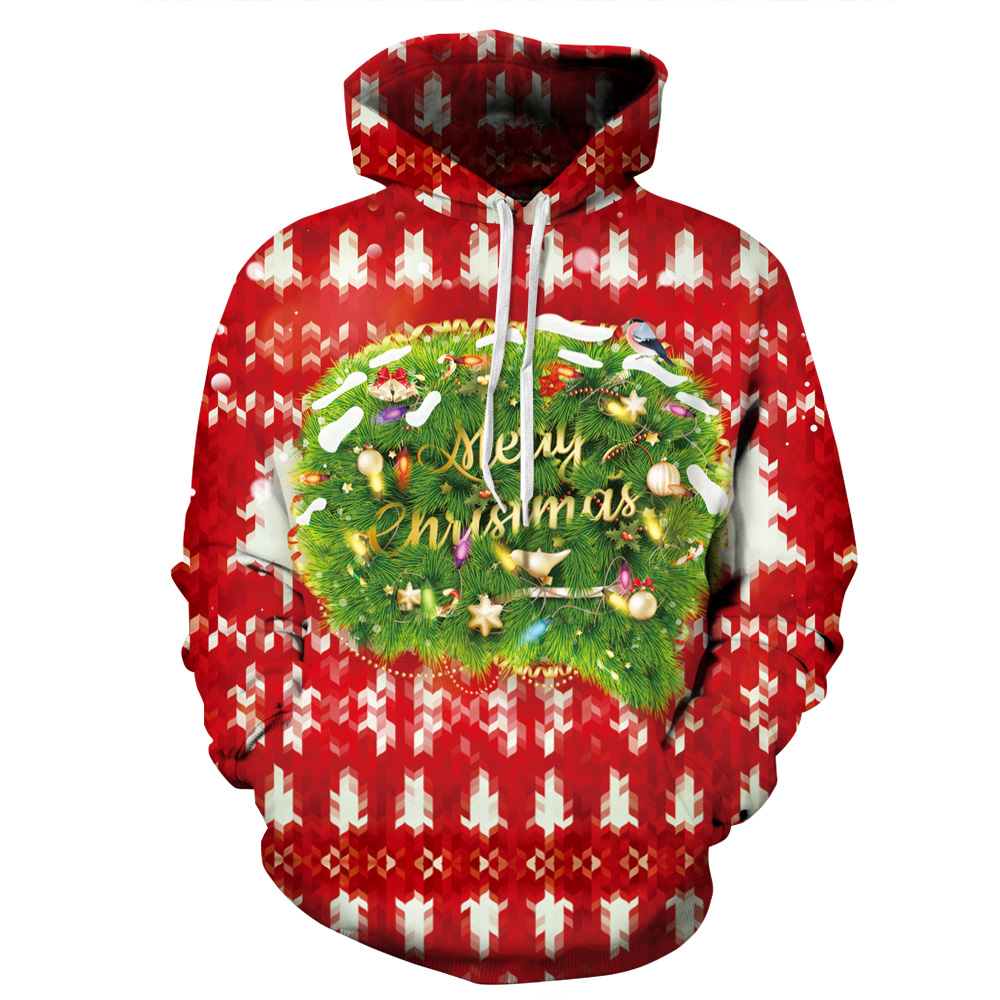 Women/Men Sport Hoodies Merry Christmas 3D Print Masaic Sweatshirts Autumn Winter Sportwear Running Cycling Hooded Sweaters Tops