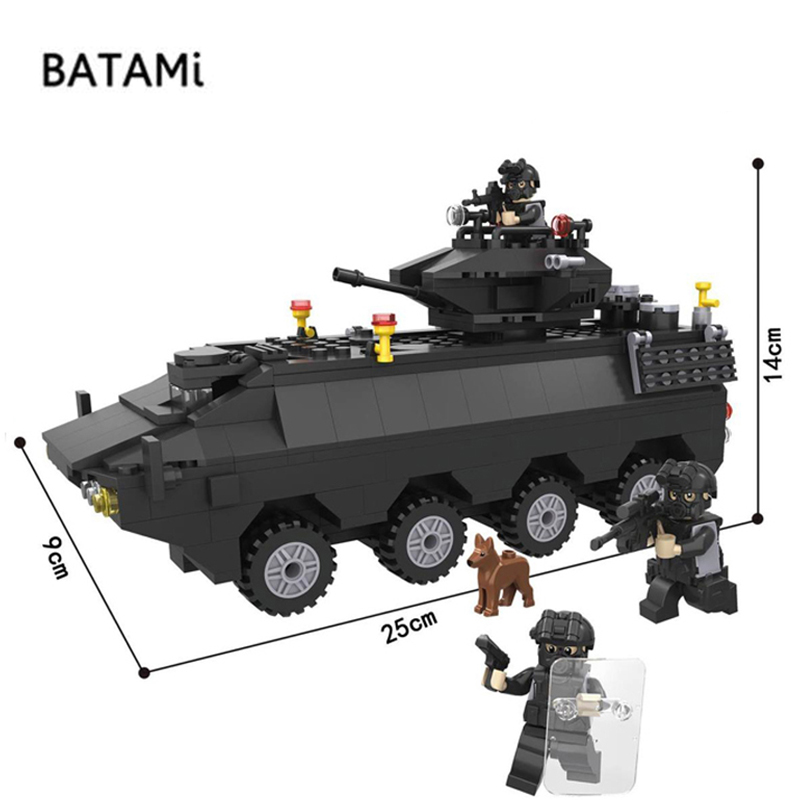 Model building kits Compatible with Lego city building block city Police Swat Armored car sets 418 pcs 3 Bricks minfigures toys