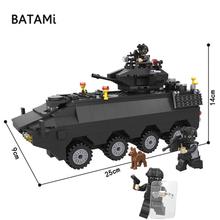 Zestaw klocków kompatybilny z Lego city klocki do budowy policja miejska Swat opancerzone zestawy samochodowe 418 sztuk 3 cegły minfigures zabawki tanie tanio BATAMi B006508 do not eat Chłopcy 6 lat Bloki Z tworzywa sztucznego Samozamykajcy cegły