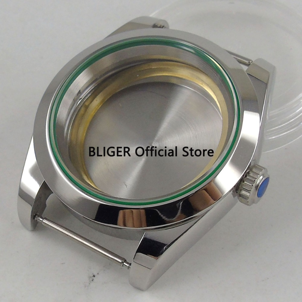 Polished 40mm 316L Stainless Steel Watch Case Sapphire Glass Suitable For ETA 2824 2836 Miyota 8215 8205 Mingzhu 2813 Movement цена