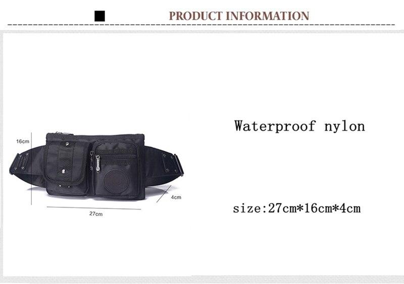 de nylon pacote de cintura Fanny saco