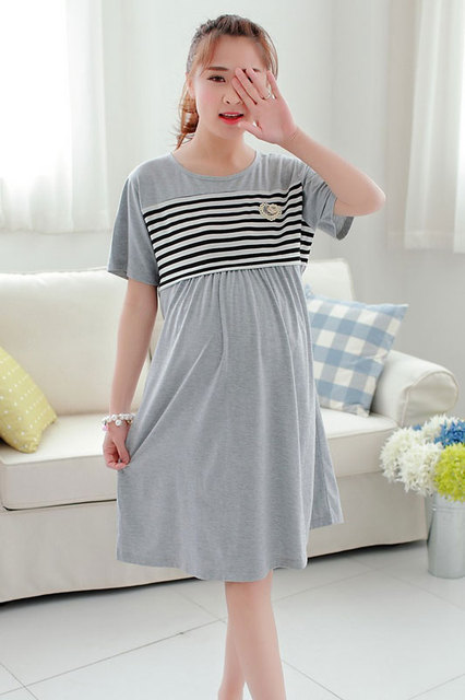 https://ae01.alicdn.com/kf/HTB1DoSdLXXXXXbuXVXXq6xXFXXXQ/Knee-length-Nursing-clothes-pregnant-women-maternity-dress-summer-Breastfeeding-lactating-loose-cotton-dress-pregnancy-gravidity.jpg_640x640.jpg