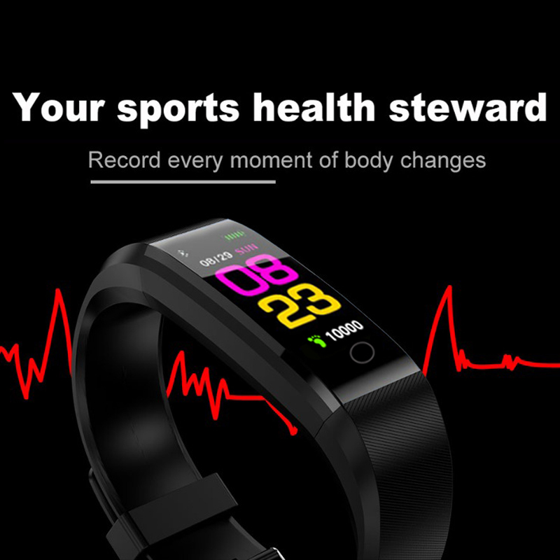 2019 Men Women Sport Smart Bracelet Smart Watch Fitness Heart rate Blood Oxygen Monitoring Pedometer Smart Wristband Android iOS in Smart Wristbands from Consumer Electronics