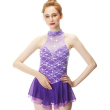 Lightly Purple Sleeveless Elegant Star Figure Skating Suit Costume Is The First Choice For Girls And Women