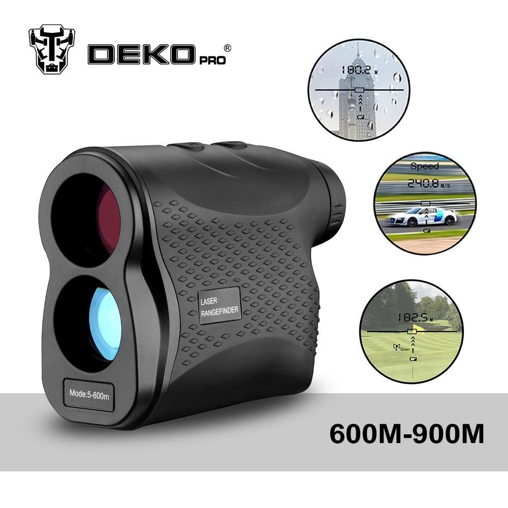 DEKOPRO Laser Rangefinder Golf Hunting Measure Telescope Digital Monocular Laser Distance Meter Speed Tester Laser Range Finder hunting tactical golf distance meter laser range finder speed tester monocular 6x21 600m laser rangefinder