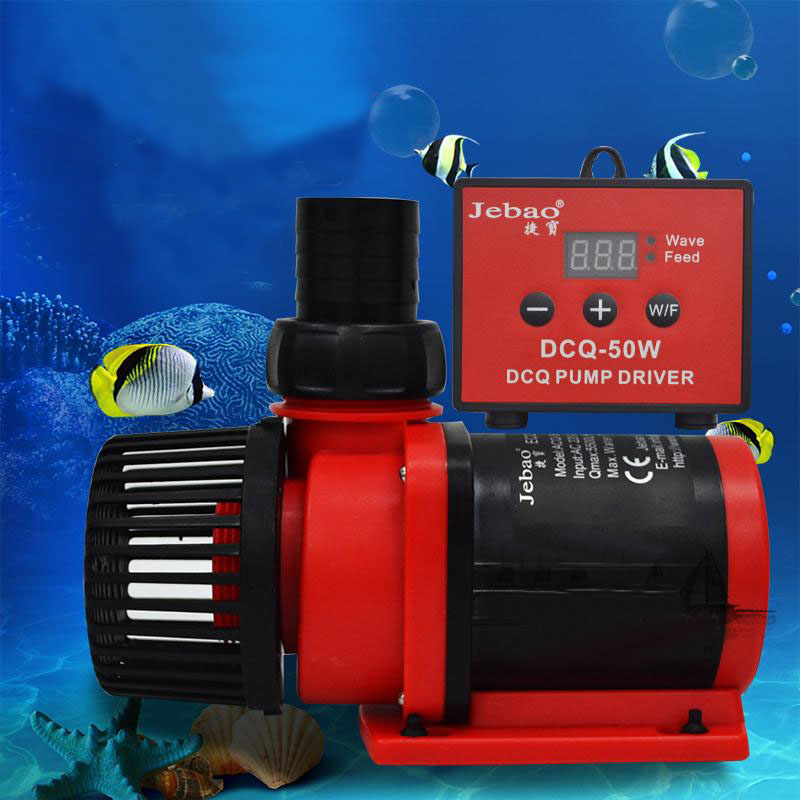 Jebao DCQ-5000/6000/8000 LCD Display Control DC Return Water Pump For Marine Aquarium Sump Pump Fish Tank Wave Maker 5000L/h