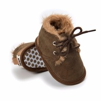 baby shoes winter 0-18 months newborn boy snow boots PU leather plush Soft bottom Toddler shoes baby First Walkers Baby's First Walkers