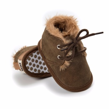 baby shoes winter 0-18 months newborn boy snow boots PU leather plush Soft bottom Toddler shoes baby First Walkers
