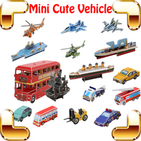 Children Day Gift Cute Vehicle 3D Puzzles Model Transportation Set Learning Education Toys DIY Game Teach Tool Kids Family Work