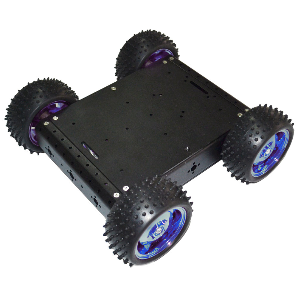 4WD Four Wheel Drive Cross-country Line Tracking Obstacle Avoidance Car Robot Kit Diy Kit For Arduino