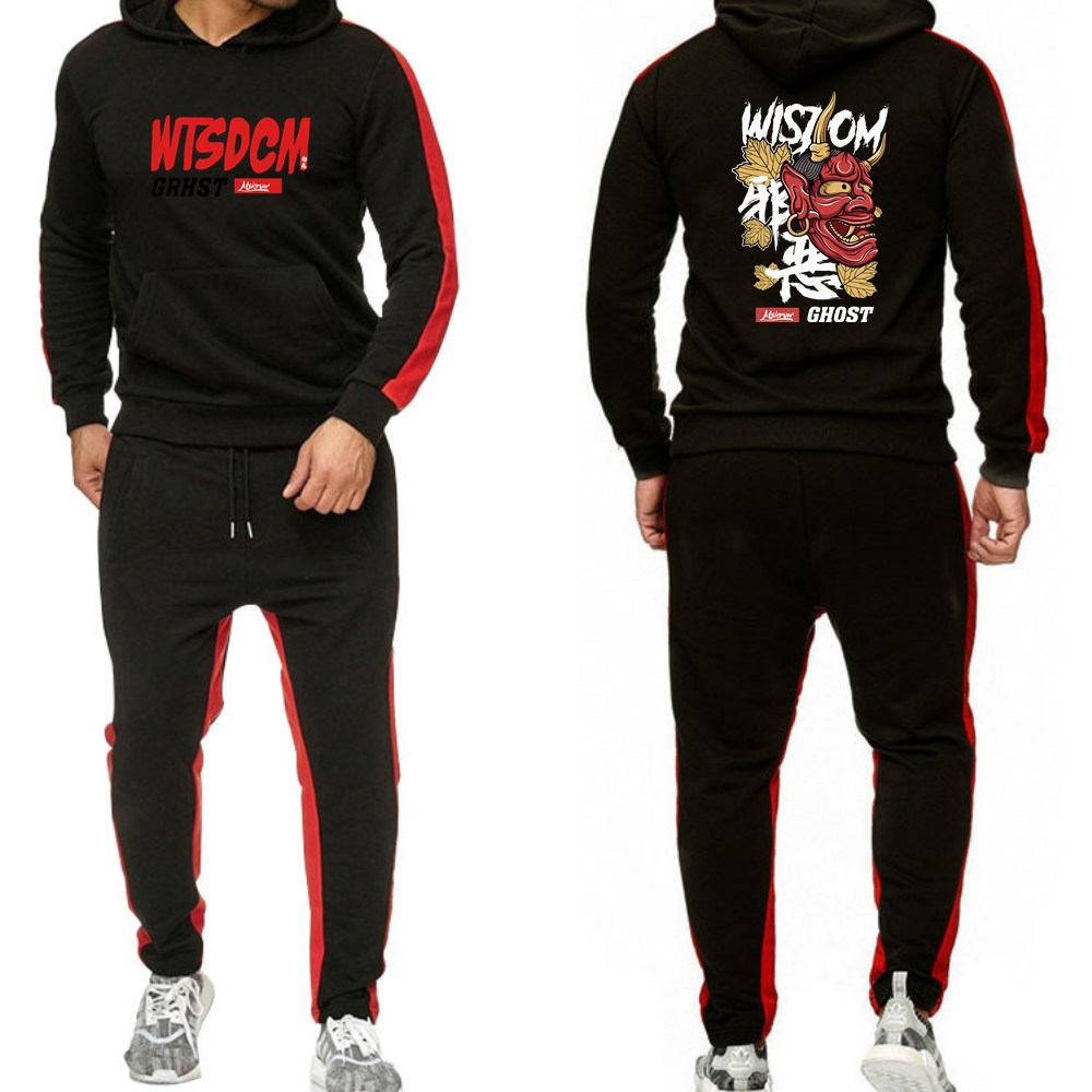 New men 39 s hoodie fashion autumn winter sports suit sweatshirt sweatpants 2 men 39 s clothing Slim fleece men 39 s sportswear in Hoodies amp Sweatshirts from Men 39 s Clothing