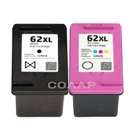 2 Refillable 62XL Ink Cartridge For Compatible Hp ENVY 5540 5541 5542 5543 5544 5545 5546