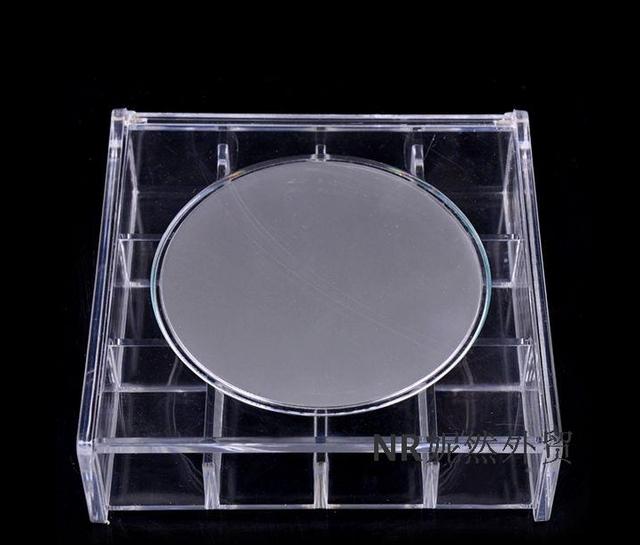 5.7 pulgadas, Rectangular espejo espejo de vanidad sencillo Escritorio plegable portable llevar un pequeño espejo de aumento espejo de Escritorio princesa espejo