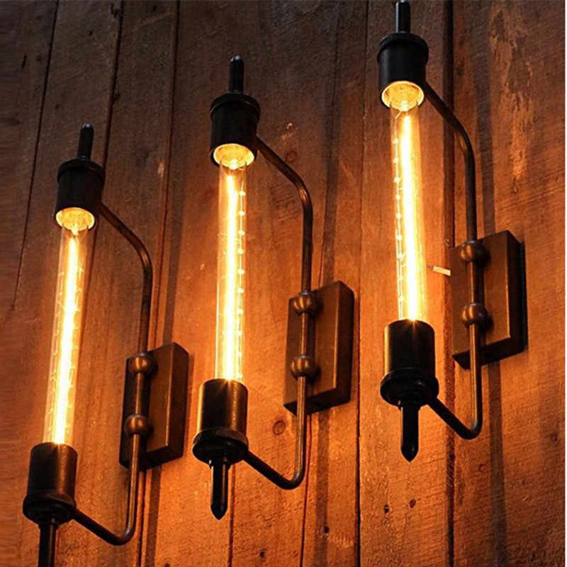 loft retro steampunk lamp for living room bedroom hallway wall lights loft industrial rooms decor steampunk pipes wall lamp