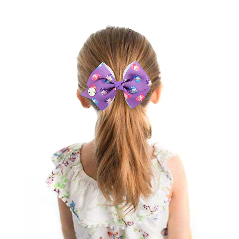 Frugal Rainbow Unicorn Printed Hair Bows Grosgrain Ribbon Hairpins Handmade Bowknot Girls Princess Party Hair Accessories Making Things Convenient For The People
