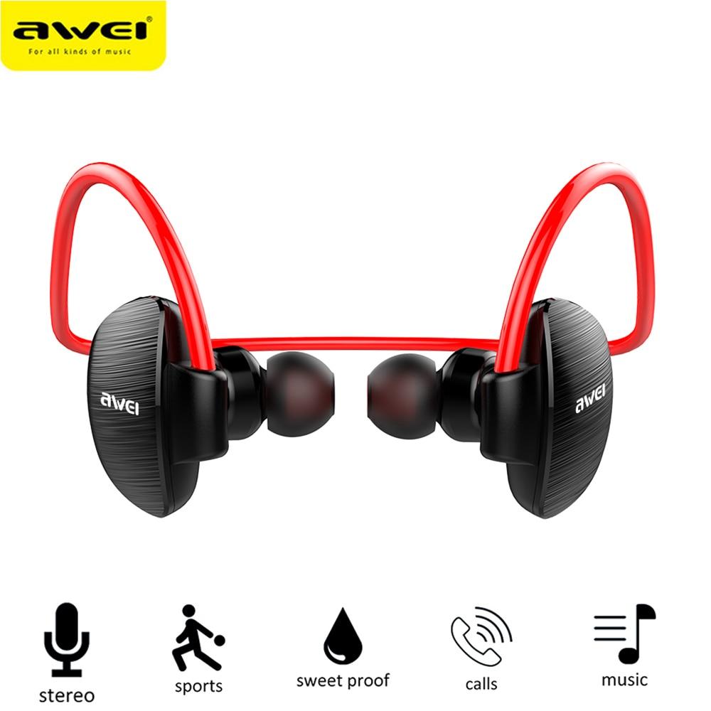Última A847BL inalámbrico Sweatproof auriculares oreja ganchos banda para el Cuello estilo Bluetooth deportes auriculares para IPhone IPod teléfono móvil