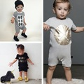 New 2016 Summer 100% Cotton Ropa Bebe Newborn Baby Boys Clothing Clothes Creeper Jumpsuit Short Sleeve Romper Baby Boy