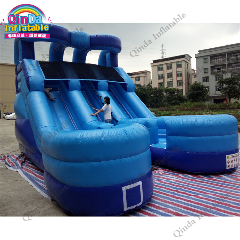 Outdoor Kids Dual Slide Inflatable Castle Jumping font b Bouncer b font Bounce Castle Moonwalk for
