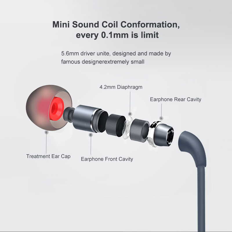 2018 3 5mm In-ear Noise Cancelling Earphone Stereo Earbuds Graphene  Earphones With Microphone For Mobile Phone