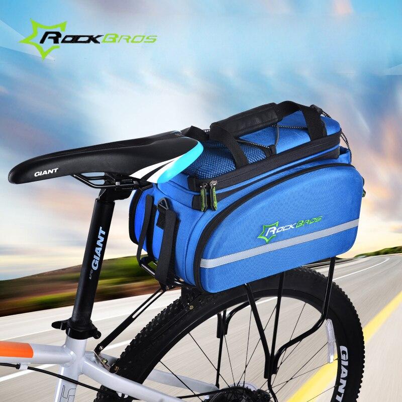 RockBros sacs et sacoches de vélo imperméables siège grand sac de coffre sac de transport VTT sac de siège arrière de vélo sac de rangement sac à main