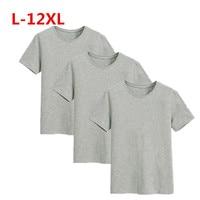 1 Pack plus size Men's Tops Tees Cotton O neck short sleeve t shirt men fashion fitness t shirt Men Tees 12XL 11XL 10XL