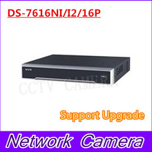 DS-7616NI-I2/16P English version 16ch NVR with 2SATA and 16 POE ports, HDMI VGA plug & play NVR POE 16ch VCA H.265